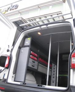 Equipamiento de furgonetas con homologación