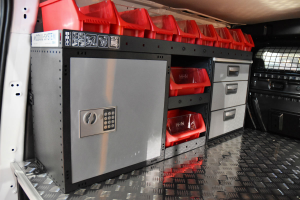 Caja fuerte en furgonetas de trabajo