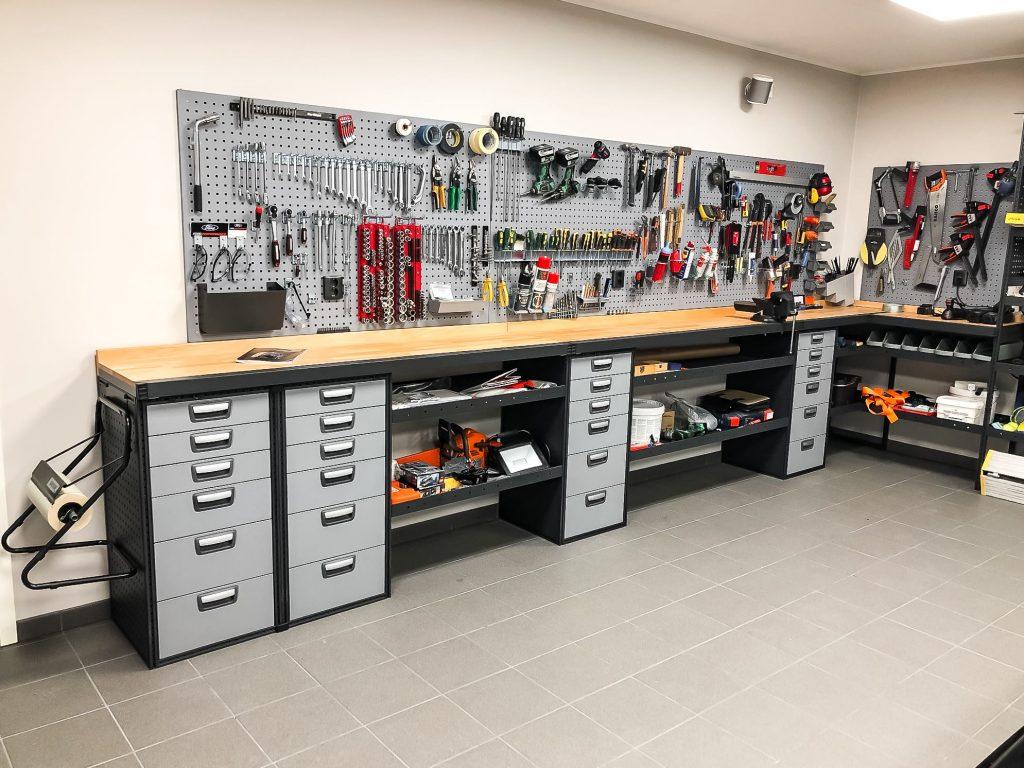 Sistemas de almacenaje para talleres
