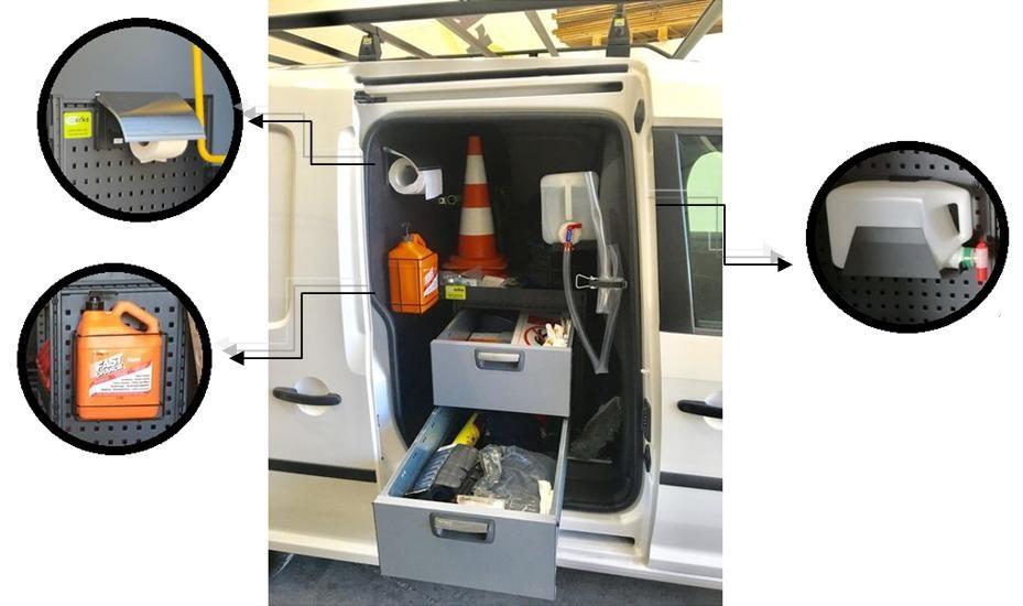 Limpieza del vehículo de trabajo